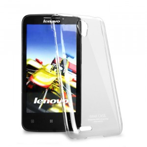 Пластиковый транспарентный чехол для Lenovo S650 Ideaphone