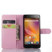Чехол портмоне подставка с защелкой для ZTE Blade L4 Розовый