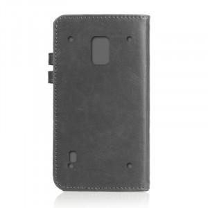 Чехол портмоне подставка на пластиковой транпарентной основе с защелкой для Samsung Galaxy S5 Active