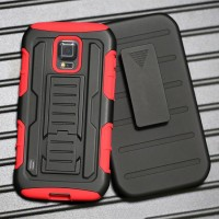 Чехол экстрим защита силикон-пластик для Samsung Galaxy S5 Active Красный