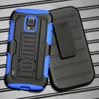 Чехол экстрим защита силикон-пластик для Samsung Galaxy S5 Active Синий