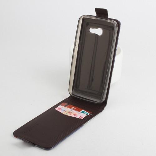 Чехол вертикальная книжка на силиконовой основе с магнитной застежкой и полноповерхностным принтом для ASUS Zenfone 4