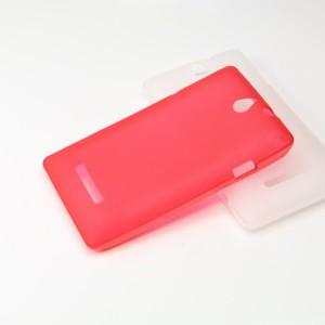 Силиконовый матовый полупрозрачный чехол для Sony Xperia E