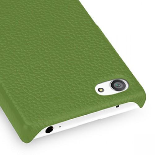 Кожаный чехол накладка (нат. кожа) для Sony Xperia Z5 Compact