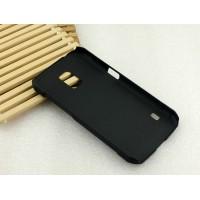 Пластиковый матовый металлик чехол для Samsung Galaxy S5 Active Черный
