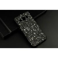 Пластиковый матовый дизайнерский чехол с голографическим принтом Звезды для Samsung Galaxy A3 Белый