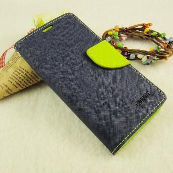 Текстурный чехол портмоне на силиконовой основе с дизайнерской застежкой для Samsung Galaxy A3