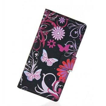 Дизайнерский чехол портмоне подставка с полноповерхностным принтом и застежкой с отделением для карт для Nokia Lumia 720