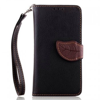 Текстурный чехол портмоне подставка с дизайнерской застежкой и отделением для карт для Sony Xperia E3