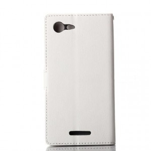 Глянцевый чехол портмоне подставка с защелкой для Sony Xperia E3