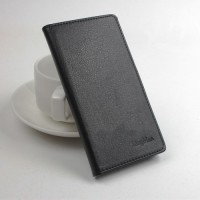 Чехол портмоне подставка на силиконовой основе с магнитной защелкой вперед для Lenovo Vibe Z2 Pro Черный
