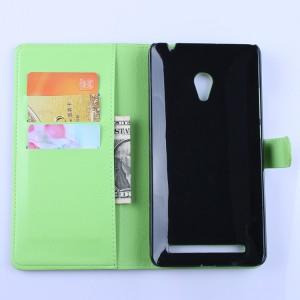 Чехол портмоне подставка с защелкой для ASUS Zenfone 6 Зеленый