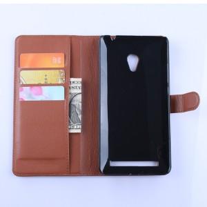 Чехол портмоне подставка с защелкой для ASUS Zenfone 6 Коричневый