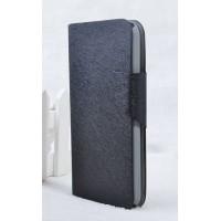 Текстурный чехол флип подставка на пластиковой основе с отделением для карт и крепёжной застёжкой для ASUS Zenfone 6 Черный