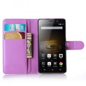 Чехол портмоне подставка с защелкой для Lenovo Vibe P1m Фиолетовый