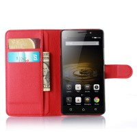 Чехол портмоне подставка с защелкой для Lenovo Vibe P1m Красный
