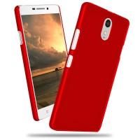 Пластиковый матовый непрозрачный чехол для Lenovo Vibe P1m Красный