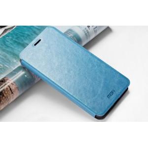 Глянцевый чехол флип подставка водоотталкивающий для Lenovo Vibe P1m Голубой