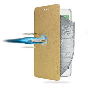 Текстурный чехол флип подставка на присоске для Lenovo Vibe P1m Бежевый