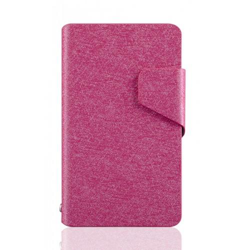 Текстурный чехол флип подставка на пластиковой основе с отделением для карт и магнитной защелкой для Nokia Lumia 820