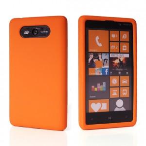 Силиконовый матовый непрозрачный чехол для Nokia Lumia 820