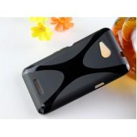 Силиконовый X чехол для Sony Xperia E4g Черный