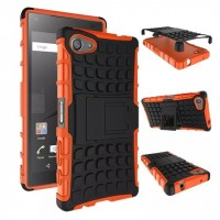 Антиударный гибридный чехол экстрим защита силикон/поликарбонат для Sony Xperia Z5 Compact Оранжевый