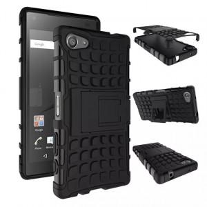 Антиударный гибридный чехол экстрим защита силикон/поликарбонат для Sony Xperia Z5 Compact
