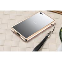 Металлический двухцветный бампер для Sony Xperia Z5 Compact Бежевый