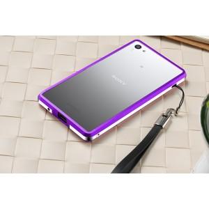 Металлический двухцветный бампер для Sony Xperia Z5 Compact Фиолетовый