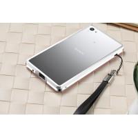 Металлический двухцветный бампер для Sony Xperia Z5 Compact Белый