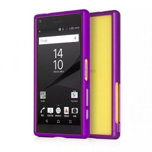 Металлический бампер для Sony Xperia Z5 Compact Фиолетовый
