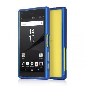 Металлический бампер для Sony Xperia Z5 Compact Синий