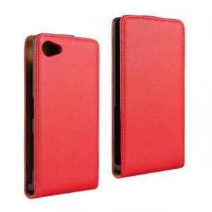 Чехол вертикальная книжка на пластиковой основе с магнитной застежкой для Sony Xperia Z5 Compact Красный
