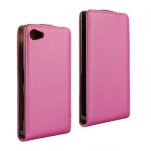 Чехол вертикальная книжка на пластиковой основе с магнитной застежкой для Sony Xperia Z5 Compact Пурпурный