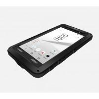 Антиударный пылевлагозащищенный гибридный премиум чехол силикон/металл/закаленное стекло для Sony Xperia Z5 Compact Черный