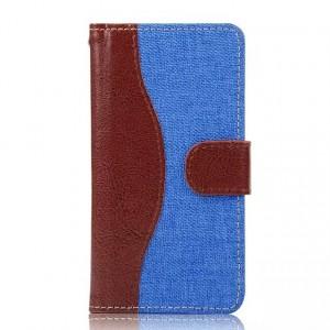 Дизайнерский чехол портмоне с защелкой и тканевым покрытием для Sony Xperia Z5 Compact