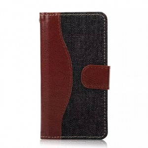 Дизайнерский чехол портмоне с защелкой и тканевым покрытием для Sony Xperia Z5 Compact Черный