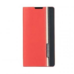 Дизайнерский чехол флип подставка на силиконовой основе с отделением для карты для Sony Xperia Z5 Compact Красный
