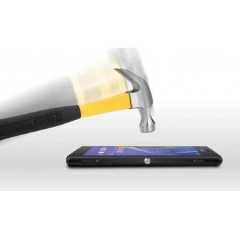 Ультратонкое износоустойчивое сколостойкое олеофобное защитное стекло-пленка для Sony Xperia M2 dual