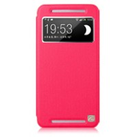 Чехол с окном вызова для HTC One (M7) Dual SIM Пурпурный