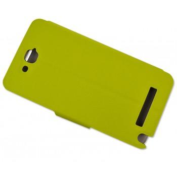 Чехол флип с магнитной застежкой для Alcatel One Touch Hero Зеленый