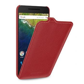 Кожаный чехол вертикальная книжка (нат. кожа) для Google Huawei Nexus 6P