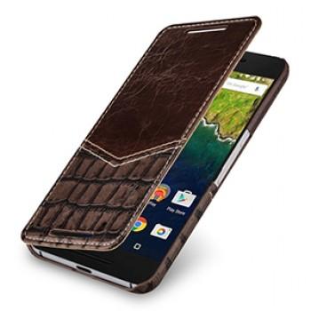 Эксклюзивный кожаный чехол горизонтальная книжка (2 вида нат. кожи) ручной работы для Google Huawei Nexus 6P