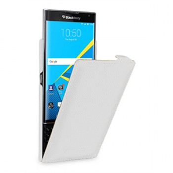 Кожаный чехол вертикальная книжка (нат. кожа) для Blackberry Priv