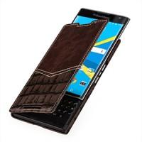Эксклюзивный кожаный дизайнерский чехол горизонтальная книжка (2 вида нат. кожи) для Blackberry Priv