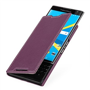Кожаный чехол горизонтальная книжка (нат. кожа) для Blackberry Priv