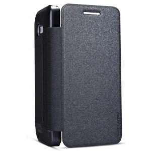 Тонкий чехол флип для ASUS Zenfone 4 (A400CG) Черный