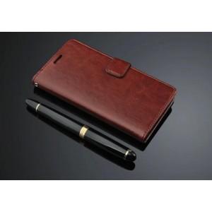 Кожаный чехол портмоне подставка на пластиковой основе и на магнитной защелке для ZUK Z1