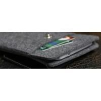 Войлочный мешок с кожаной отделкой и отделением для карт для ZUK Z1 Черный
